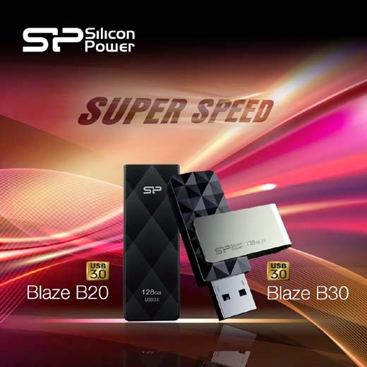 Silicon Power - USB 3.0 Blaze B20 and B30