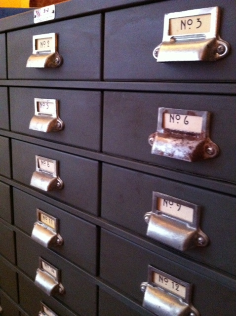 Industrial Metal Cabinet / Card Catalog