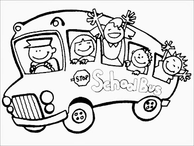 school bus coloring book pages
