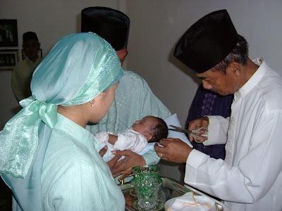 untul bantal si bayi sampai bayi berumur selapan upacara selapanan