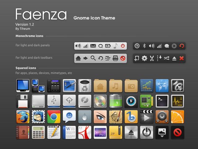 Tema ikon Faenza