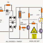 Automatic LED Candle Light Circuit