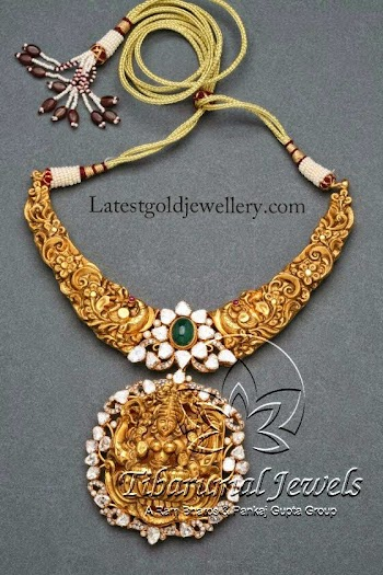 Latest gold jewellery designs temple jewellery divine temple nakshi necklace aloadofball Choice Image