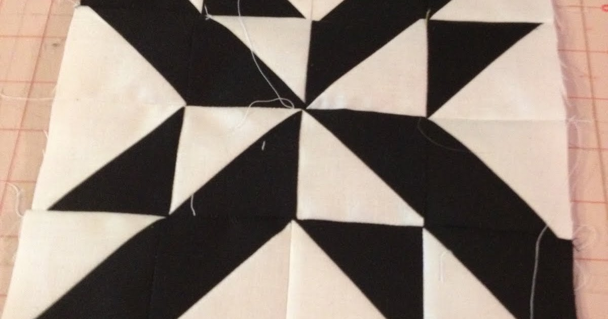 Modern Half-Square Triangle Quilt-a-Long Block 16
