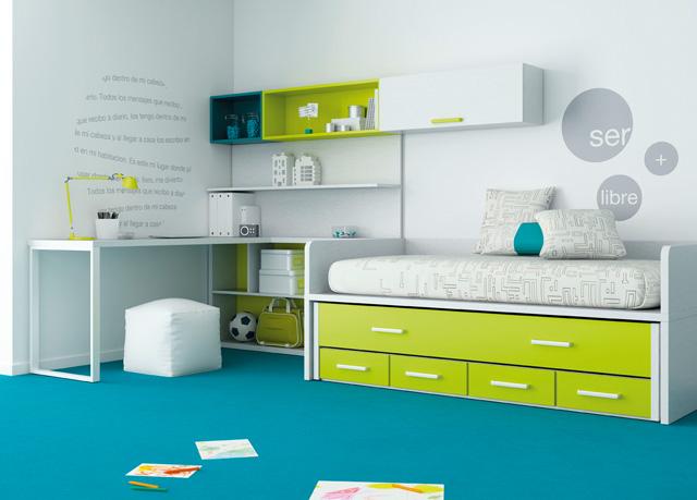 Habitaciones juveniles for Habitaciones juveniles compactas