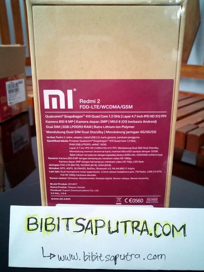 Box Tampak Belakang Berisi Detail Spesifikasi berbahasa Indonesia (Asli)