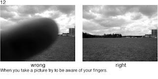 Совет 12. Следите за своими пальцами во время съемки, что бы они не попадали в объектив