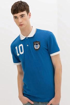 camisa polo bandeira Grécia da Zara para Copa do Mundo 2014