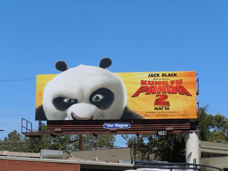 Po face Kung Fu Panda 2 billboard