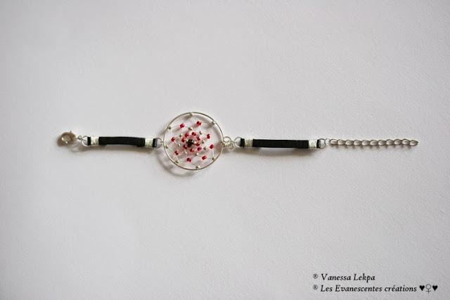 bijoux et bracelet indien attrape rêves dreamcatcher en cuir et en argent