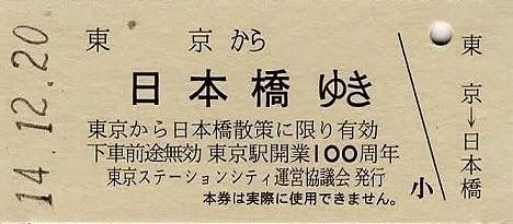 東京駅 記念レプリカ硬券