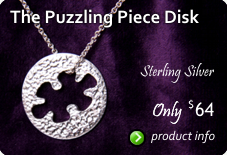 Sterling Puzzle Piece Necklace