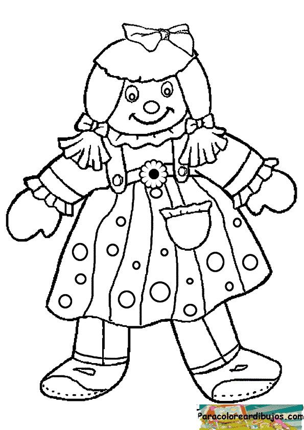 muñeca de trapo para colorear | Para colorear dibujos y dibujos