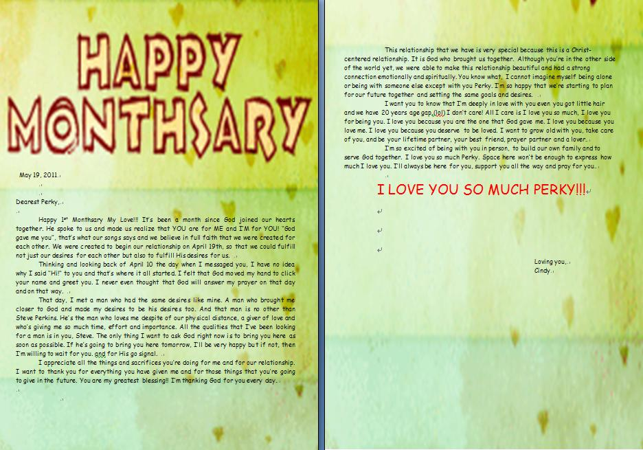 Cindyperky 1st monthsary letter for perky m4hsunfo