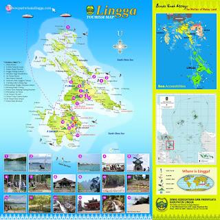 Peta Objek Wisata Lingga, Kepulauan Riau