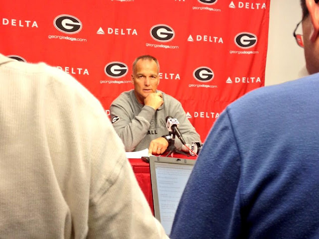 Mark Richt lost control of a pair of hair clippers, got a buzzcut.