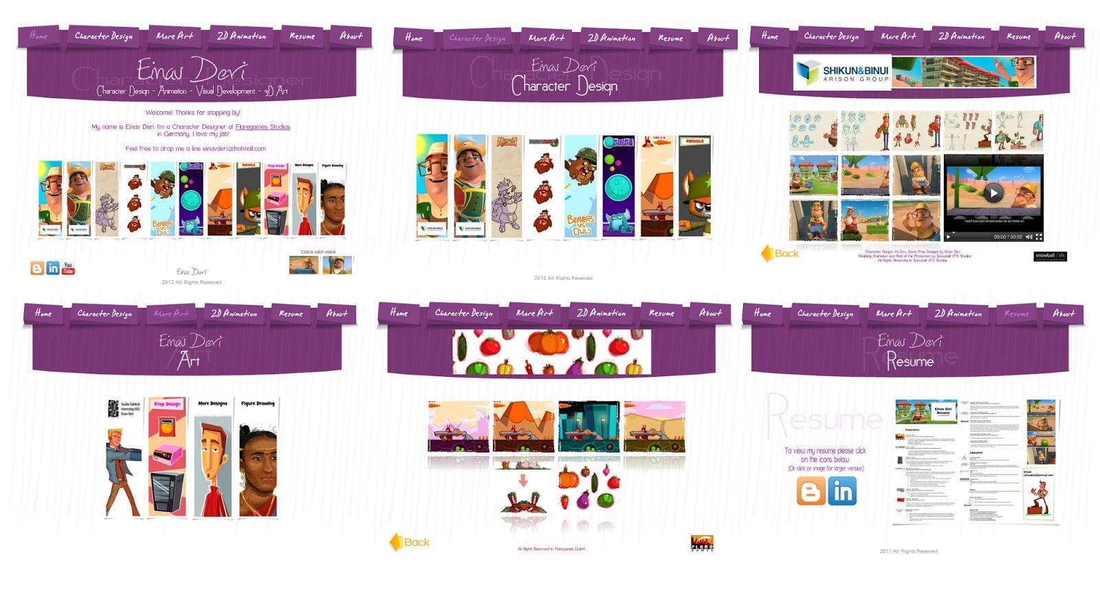 Character Design Portfolio Websites : Character design website redesigned art of animation