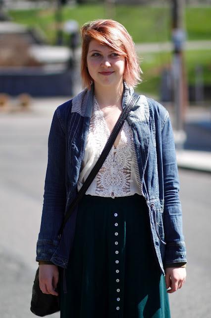 Kristen McFadden midi Skirt Cal Anderson Park