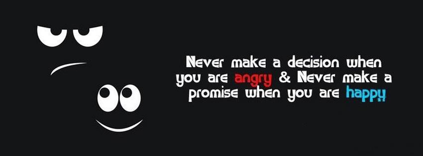 Never Make A Decision