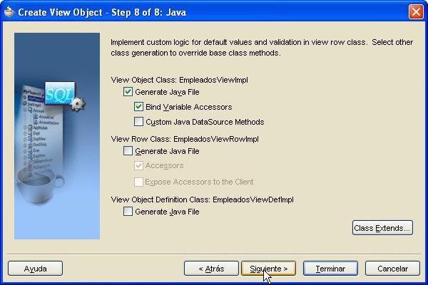 asistente generar ficheros java