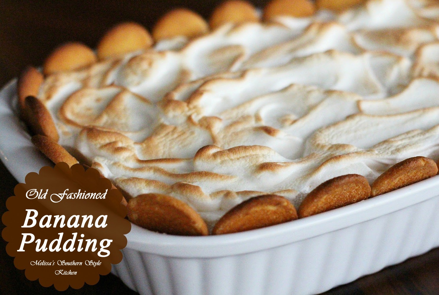 Old Fashioned Banana Pudding - melissassouthernstylekitchen.com