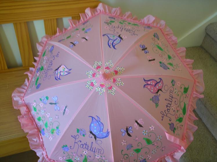 pink butterfly umbrella