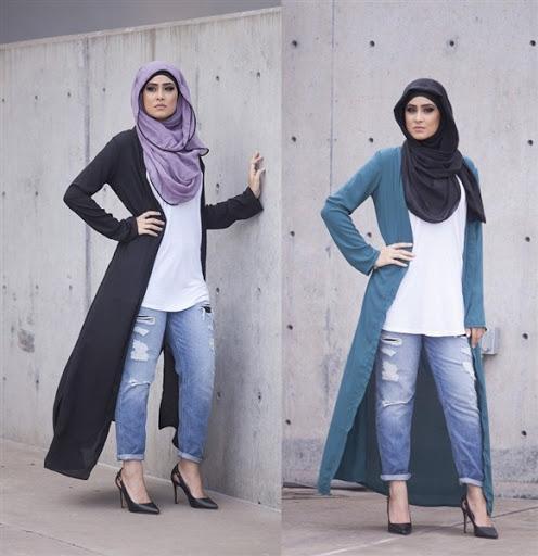 desain model cardigan muslimah terbaru 2017/2018