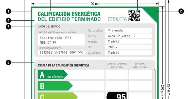 Eficiencia energ tica sanciones por incumplimiento del real decreto 235 2013 certificaci n - Ejemplo certificado energetico piso ...