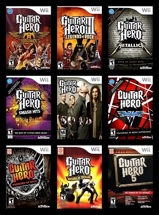 guitar hero collection wii directly games. Black Bedroom Furniture Sets. Home Design Ideas
