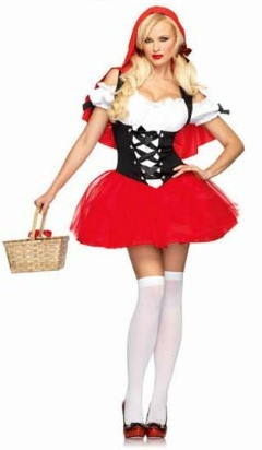 Disfraz de Caperucita Roja con corset