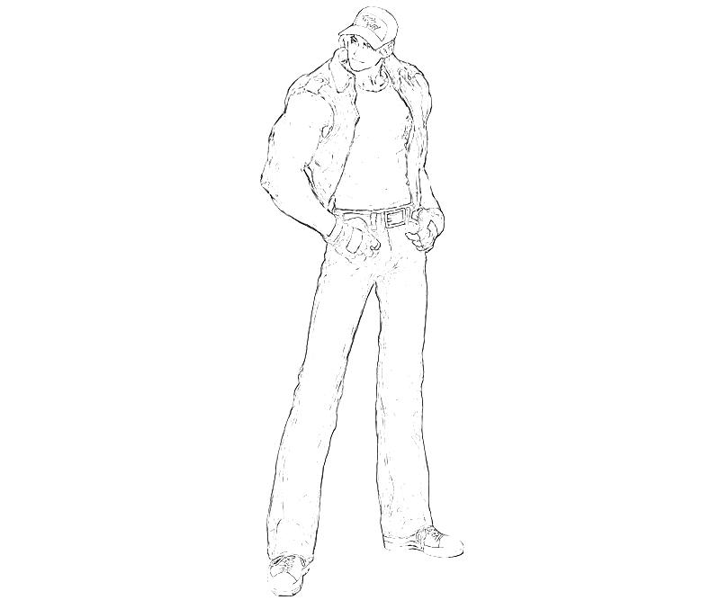 printable-king-of-fighters-terry-bogard-look-coloring-pages