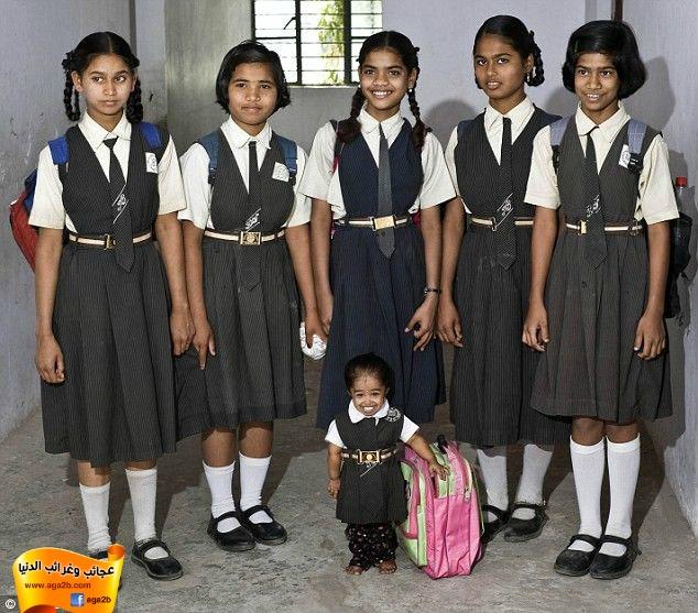 أقصر وأصغر  بنت في العالم من الهند