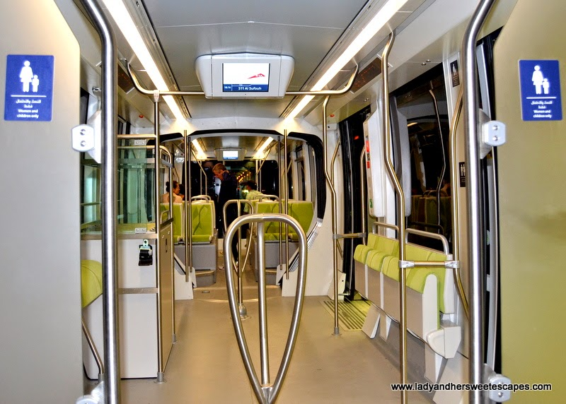 Dubai Tram cabin for women and children