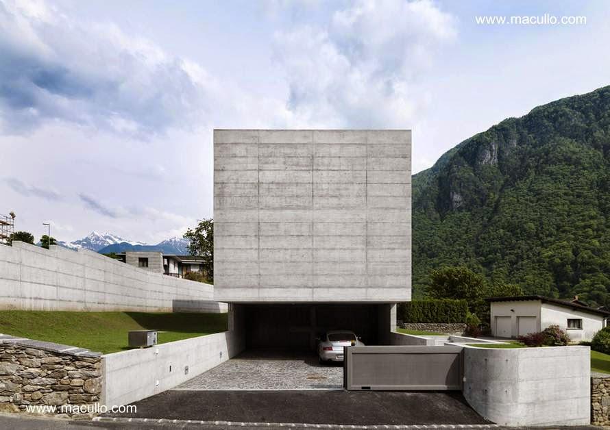 Casa minimalista en Suiza