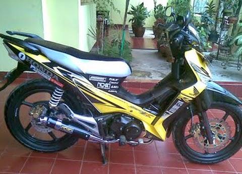 modifikasi motor supra x 125 kuning