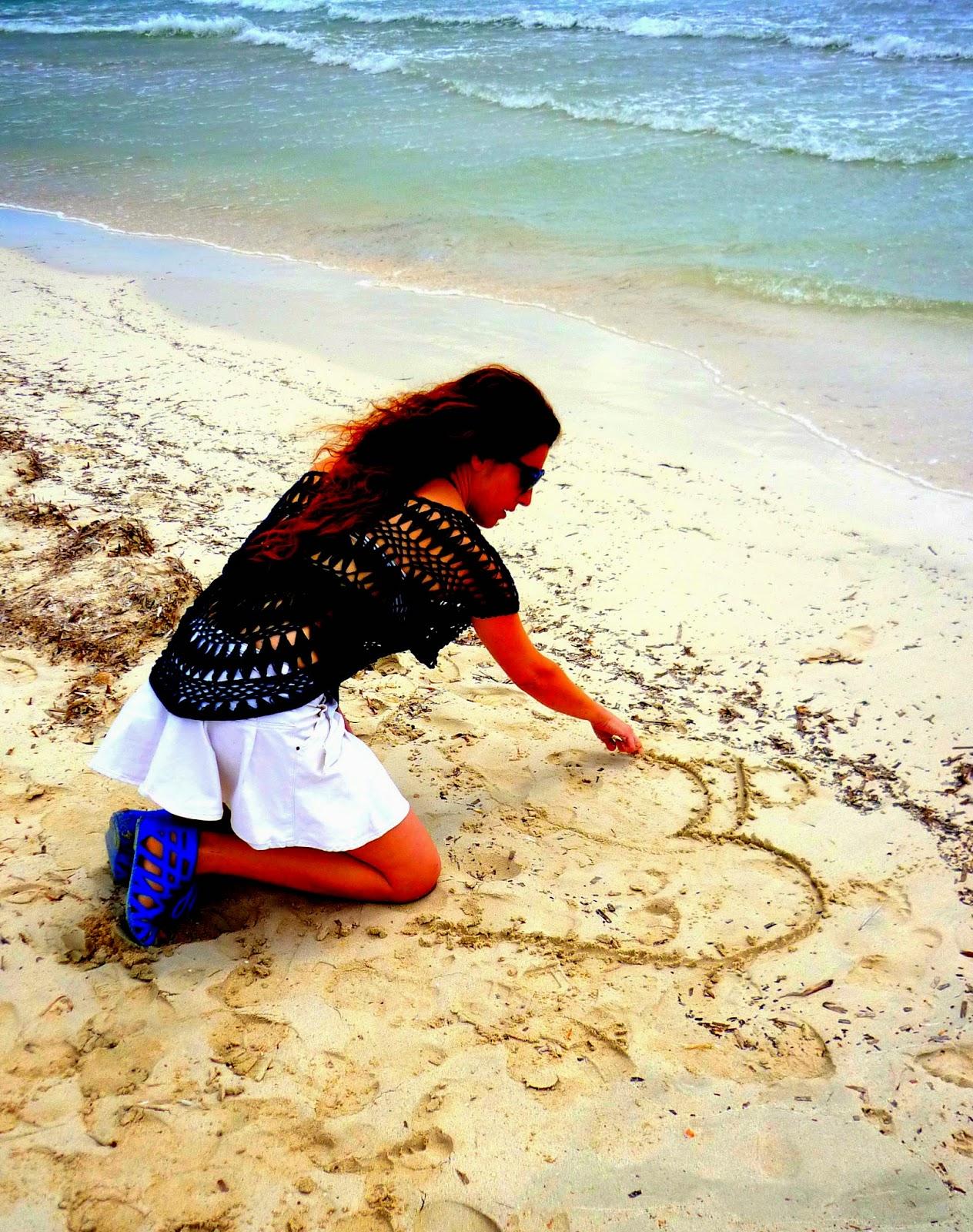 dibujar playa