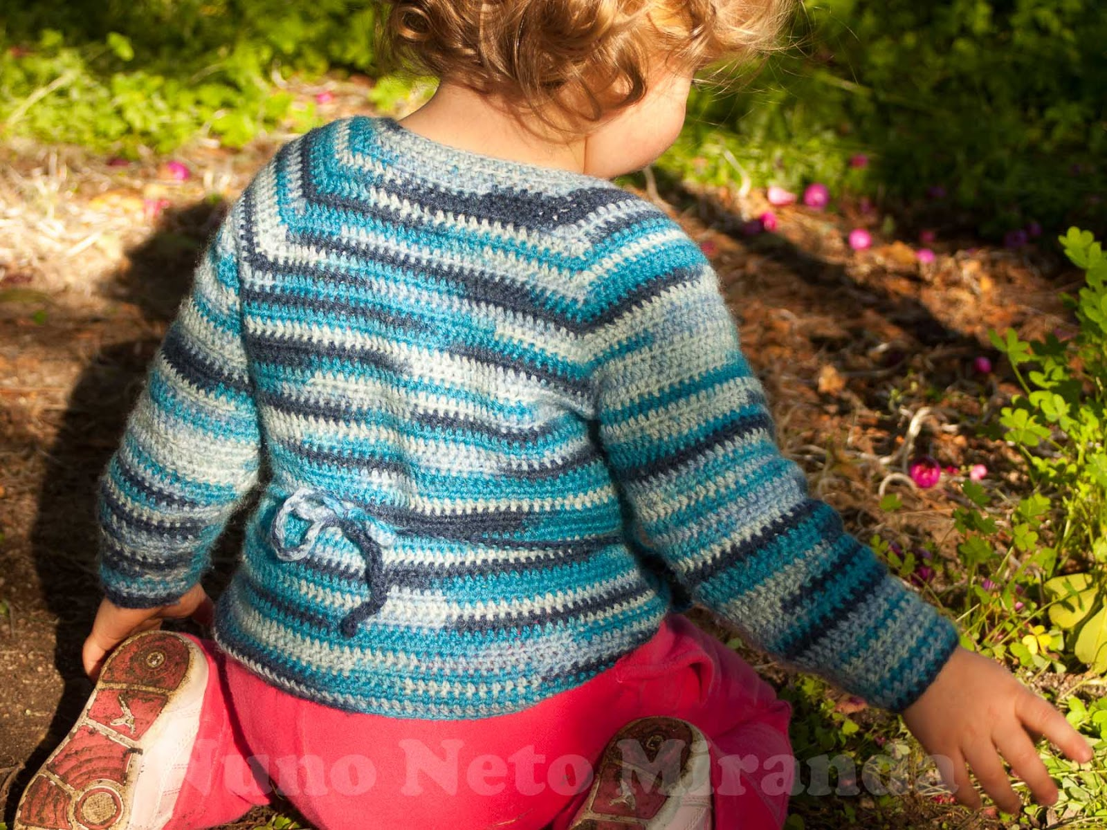 Days of Yarning: Baby Kimono Wrap - Instruc?es Passo a ...
