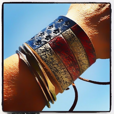 American flag leather cuff from DGierat leather.