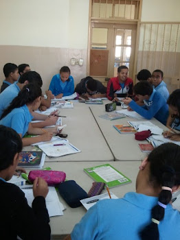 Momentos de trabajo junto a mis estudiantes