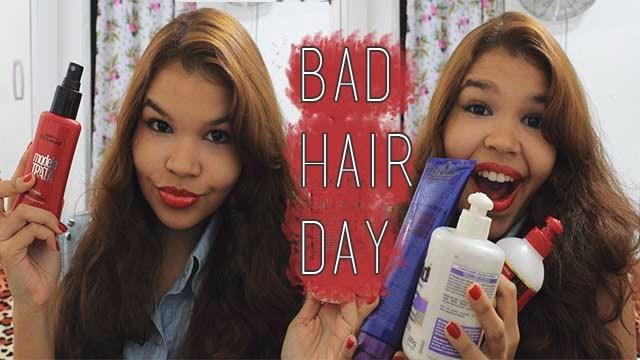 produtos bom e baratos de cabelo, produtos bad hair day, nielly gold, embelleze, creme de pentear, creme de tratamento noturno, spray modelador modela e trata
