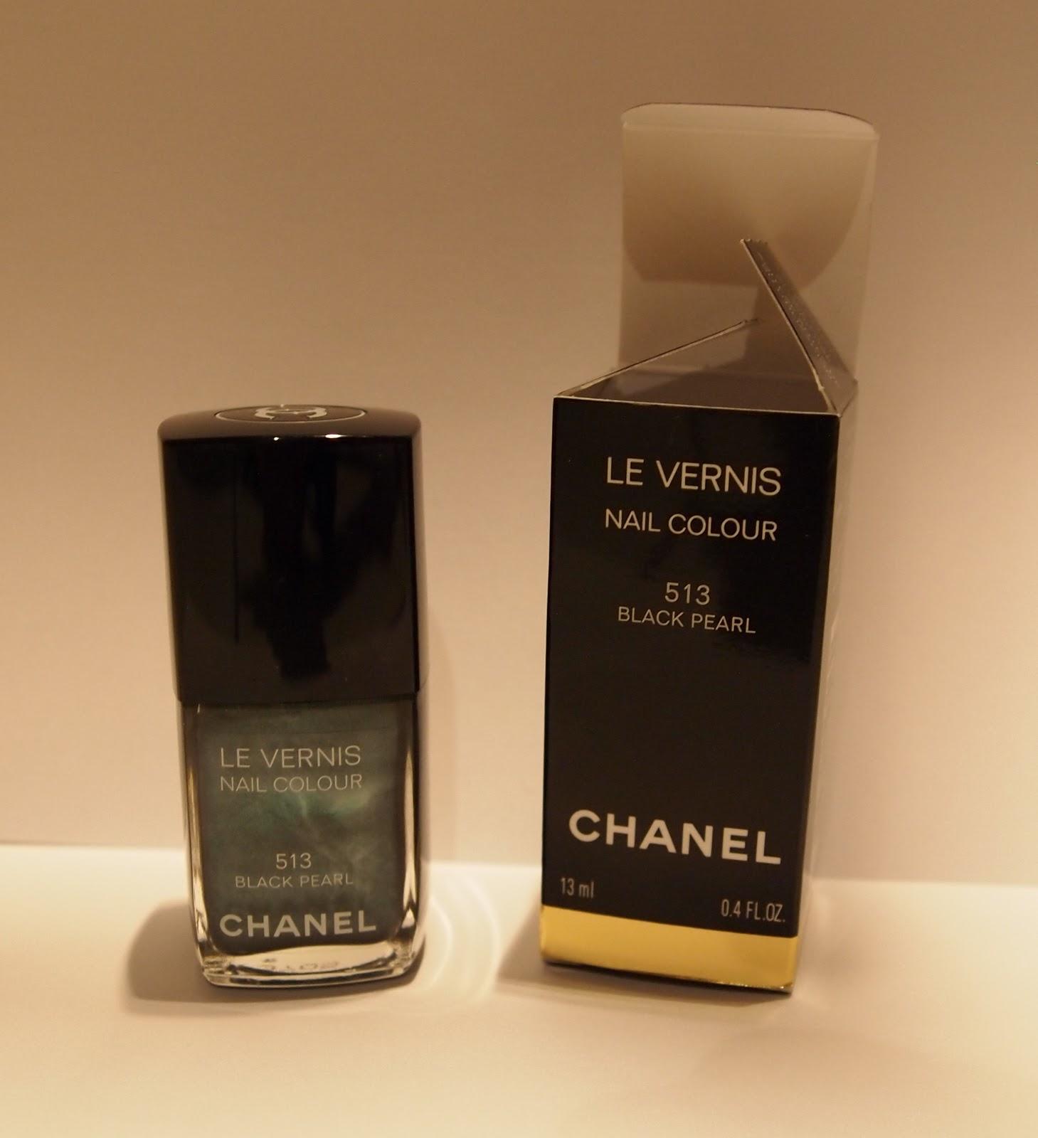 Pearl Nail Polish: Chanel Black Pearl Nail Polish