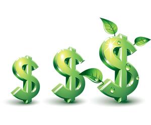Sustentável dólar dinheiro cresce crescer
