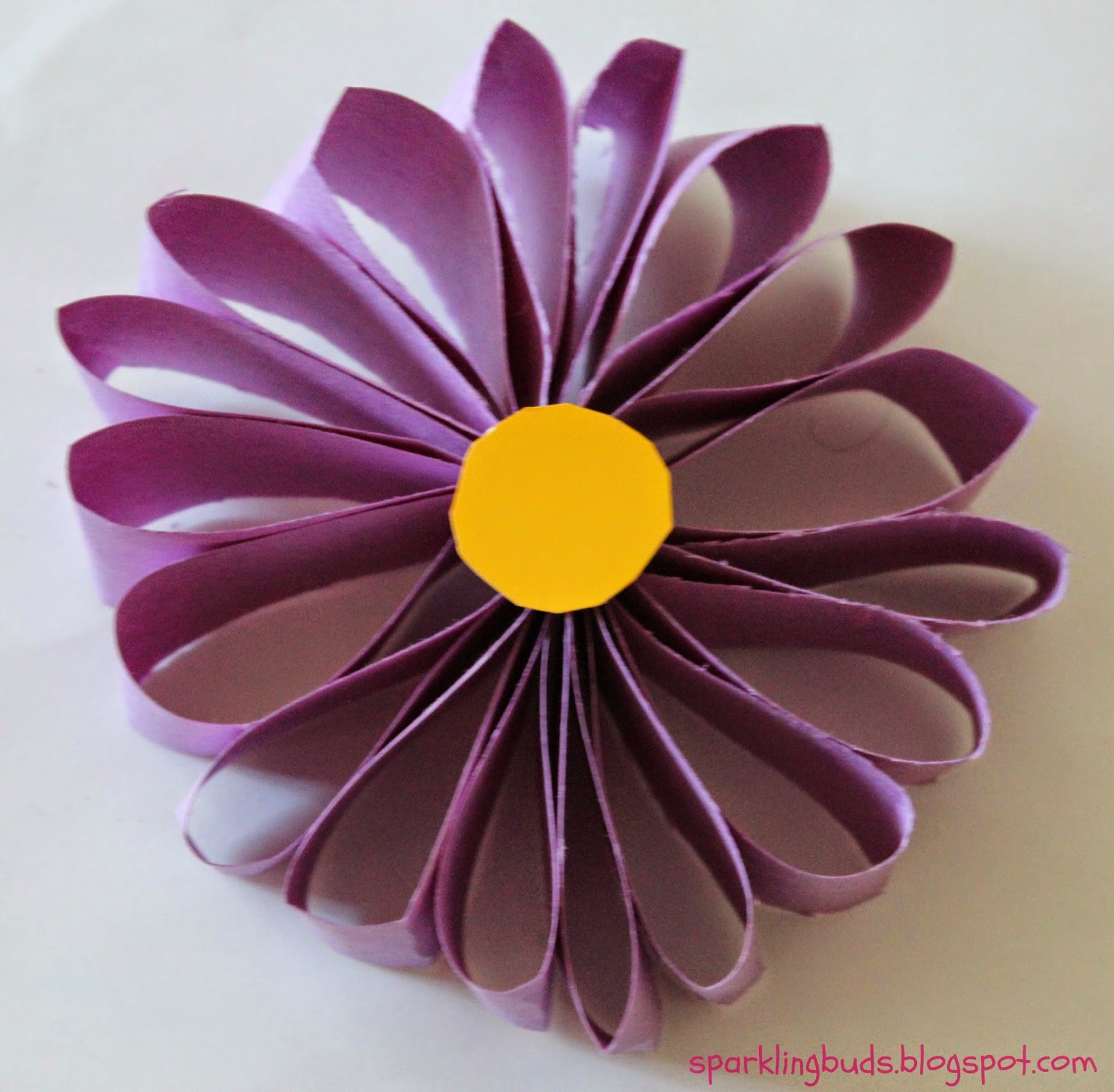 How to make a simple flower with paper selol ink easy paper flower sparklingbuds how mightylinksfo
