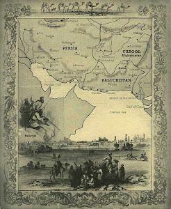 در سال 1800 نقشه پادشاهی بلوچستان