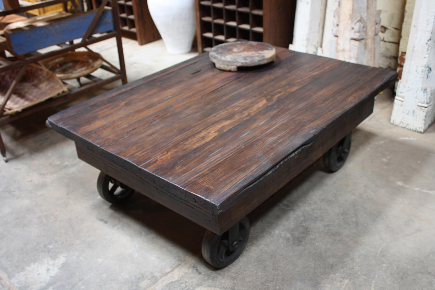 Industrial Wheel Coffee Table Pictures