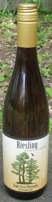 Bottle of Eagle Crest Vineyards Dry Riesling 2010