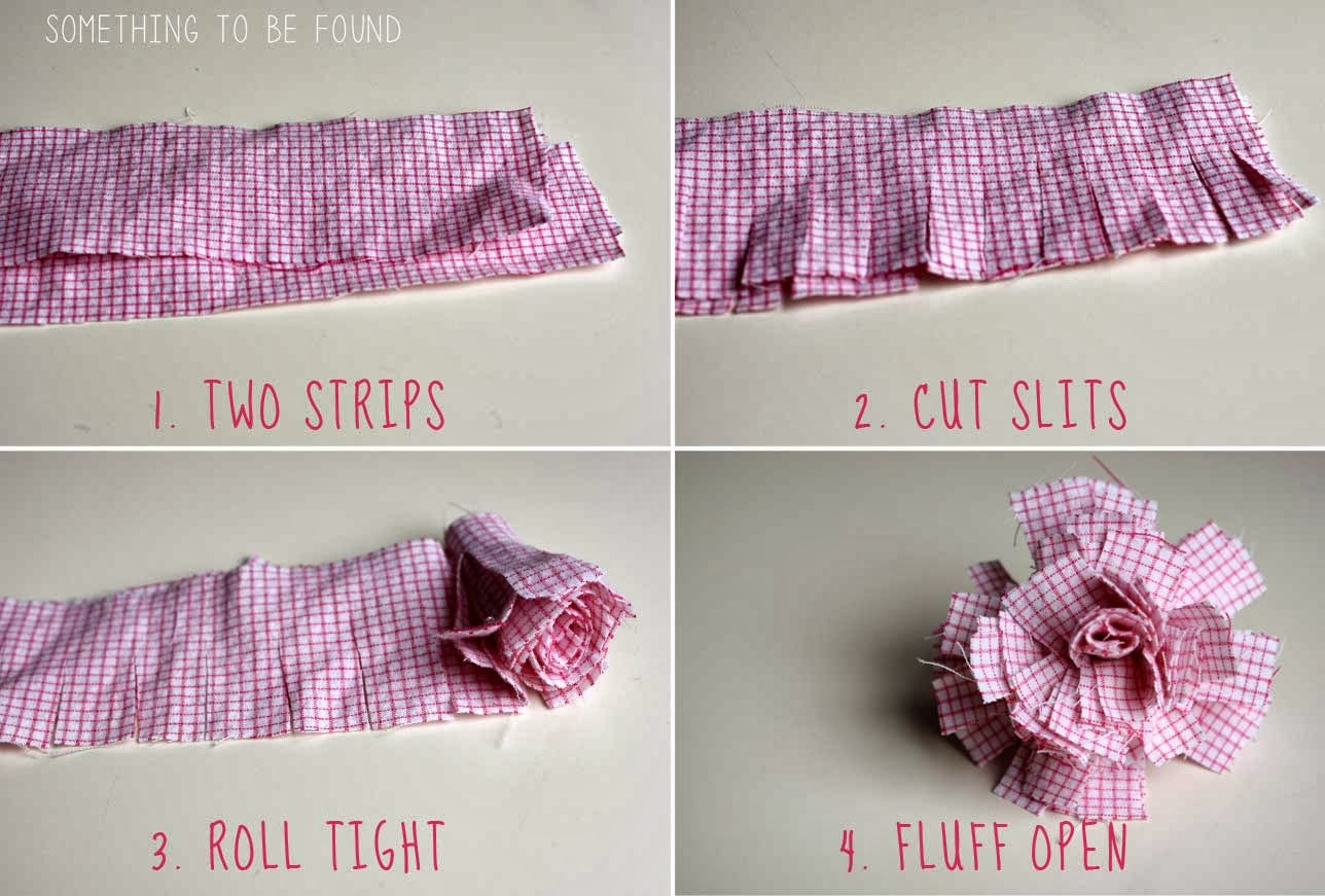 Uncategorized Diy Fabric Flower something to be found goodwill project 16 diy no sew fabric step