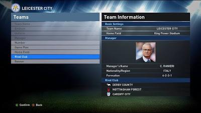 PES 2016 Real Manager Fix Stadium dan Rival Club untuk PTE 2.0