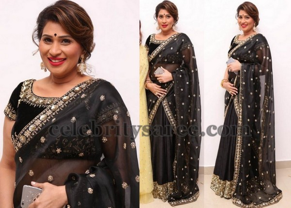 Shreedevi Chowdary Black Half Saree