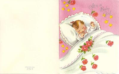 Maize Hutton Vintage Baby Girl Announcements – Vintage Baby Announcements